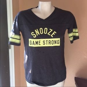 Snooze game strong tee great condition size xs